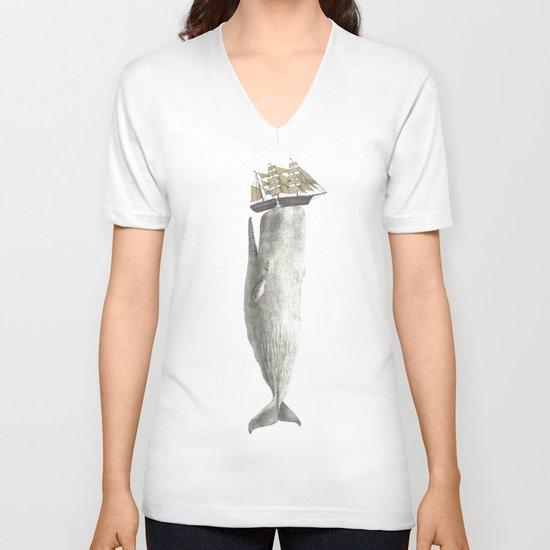 Revenge of The Whale V-neck T-shirt