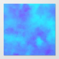 Blue and Purple Clouds  Canvas Print