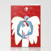 The New Christmas Family in Red Stationery Cards