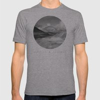Life Is A Journey (Black & White) Mens Fitted Tee Athletic Grey SMALL