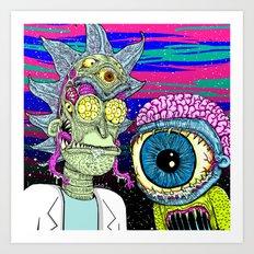 Marty and Rick Art Print