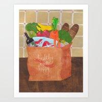 Healthy Equals Happy Art Print