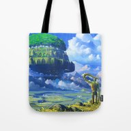Castle In The Sky Tote Bag
