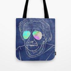Albert wears his sunglasses at night Tote Bag