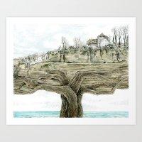 Tree City Art Print