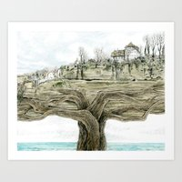 Tree city Art Print