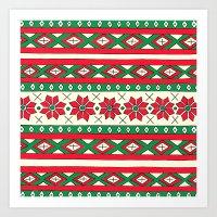 Holiday Stripes Art Print