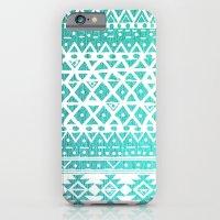 iPhone & iPod Case featuring AQUAMARINE TRIBAL  by Nika