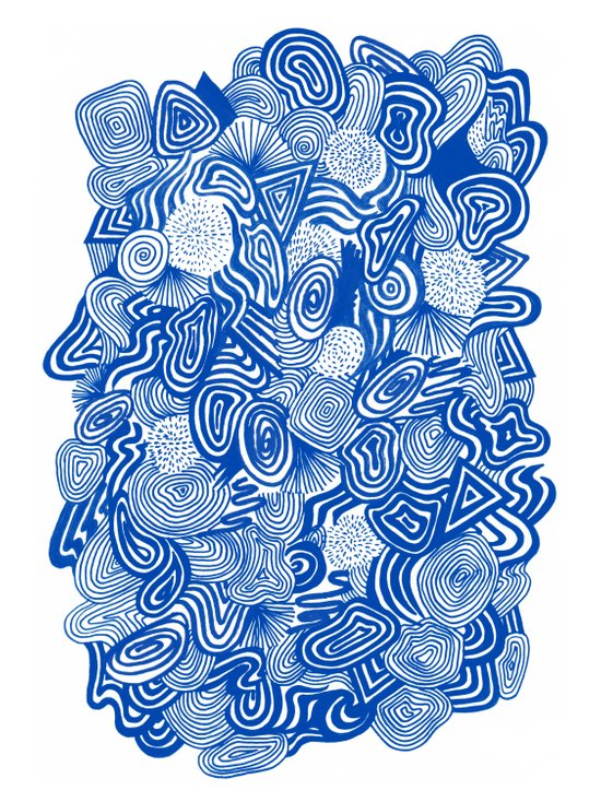 Blue Whirlpool Art Print