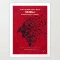 No604 My Birdman Minimal… Art Print