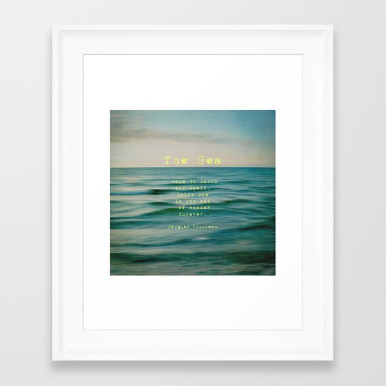 The Sea - typo Framed Art Print