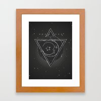 Mysterious moon Framed Art Print