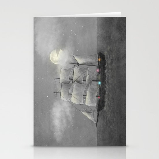 Ghost Ship  Stationery Card