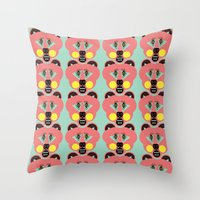 Grizzly Bear Necessities Throw Pillow