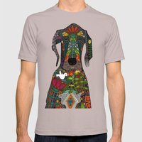 Great Dane love midnight Mens Fitted Tee Cinder SMALL