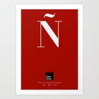 Ñ (Piece 03/08) Art Print