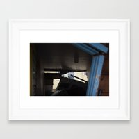 Blue Frame Motel, After Sandy Framed Art Print