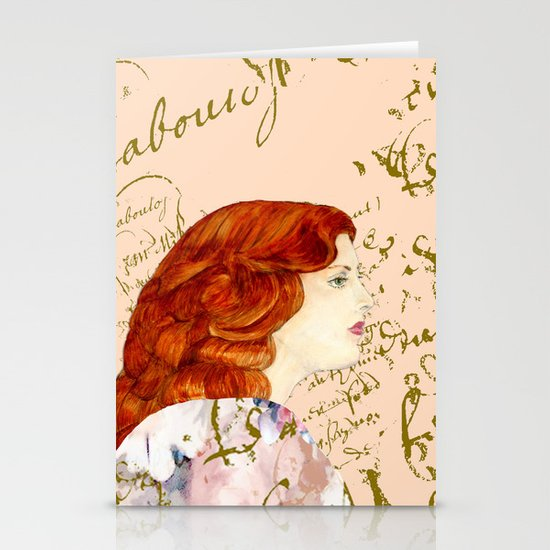 I love Redheads Stationery Card