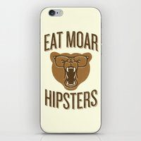 Eat Moar Hipsters iPhone & iPod Skin