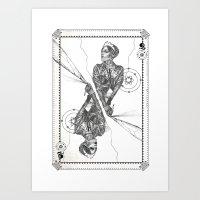 Queen of Carbon II Art Print