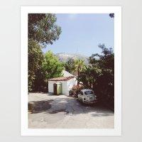 Hollywood, California Art Print