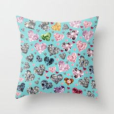 Heart Diamonds are Forever Love Throw Pillow
