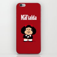 coupling up Mafialda iPhone & iPod Skin