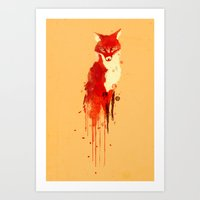 forest Art Prints featuring The fox, the forest spirit by Picomodi