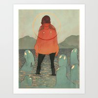 Spirits Of The Lake Art Print