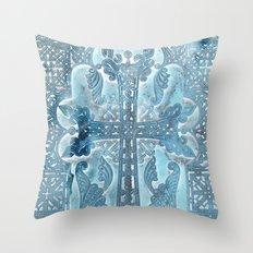 Celtic Blue - JUSTART © Throw Pillow