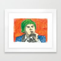 Cabbage Head Framed Art Print