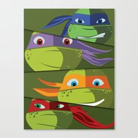 Teenage Mutant Ninja Tur… Canvas Print