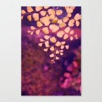 yellow hearts Canvas Print