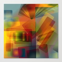 Alluvial Rays Canvas Print