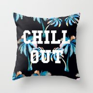 Throw Pillow featuring Chill Out by Text Guy