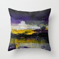 Purple Abstract Landscap… Throw Pillow
