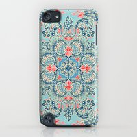 iPod Touch Cases featuring Gypsy Floral in Red & Blue by micklyn