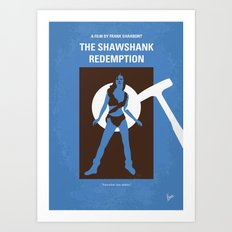 No246 My THE SHAWSHANK REDEMPTION minimal movie poster Art Print