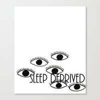 Sleep Deprived Canvas Print