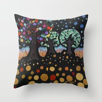 :: Night Forest :: Throw Pillow