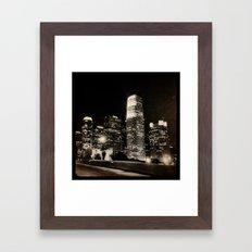 LA at night. Framed Art Print