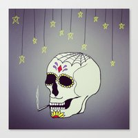 Skull Chill Out Canvas Print