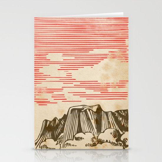 Carpathian mountains Stationery Card