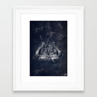 DARK GLOVES Framed Art Print