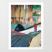 The Melting Wall (2) Art Print