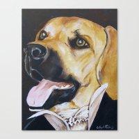 Mans Best Friend - Dog I… Canvas Print