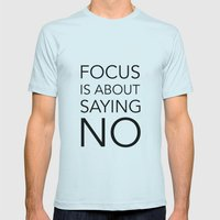 Focus Is About.... Mens Fitted Tee Light Blue SMALL