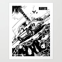 Siesta Beach Art Print