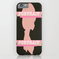 iPhone Cases featuring Portrait by ''B oGiatzi.