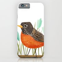 iPhone & iPod Case featuring American Robin by Stephanie Fizer Coleman